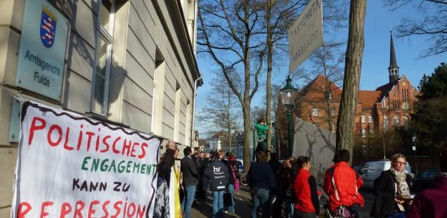 Am Tag der Verhandlung vor dem Fuldaer Amtsgericht