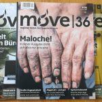 Journalismus - Coverbilder dreier Ausgaben von move36, einem Magazin für junge Menschen in Fulda
